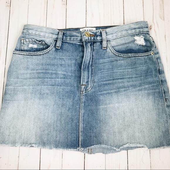 Frame Denim Dresses & Skirts - FRAME Denim Le Mini Ryde Jean Skirt 28